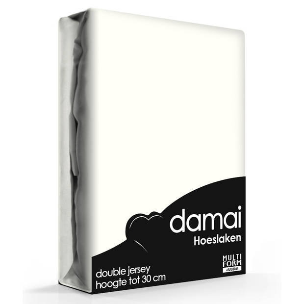 Damai Multiform Double Jersey Hoeslaken Cream-180 x 220 cm XL