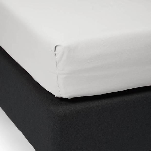 Essenza Premium percale katoen hoeslaken extra hoog - 100% percale katoen - 1-persoons (80x200 cm) - Silver