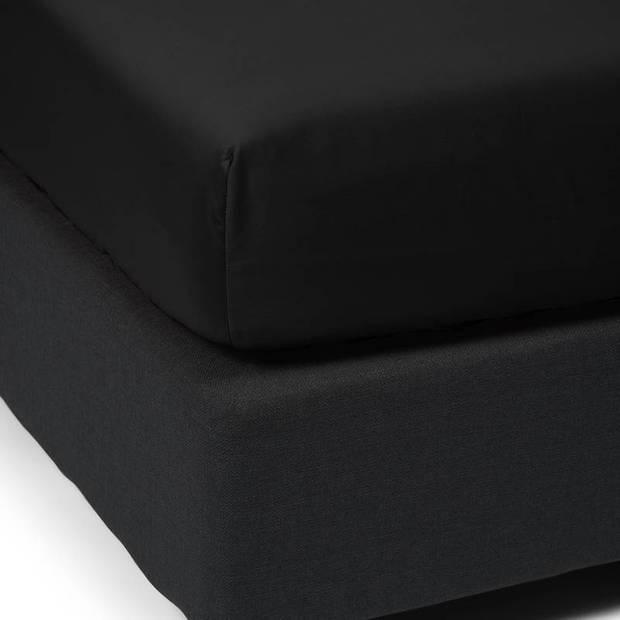 Essenza Satin hoeslaken - 100% katoen-satijn - 1-persoons (80x200 cm) - Black