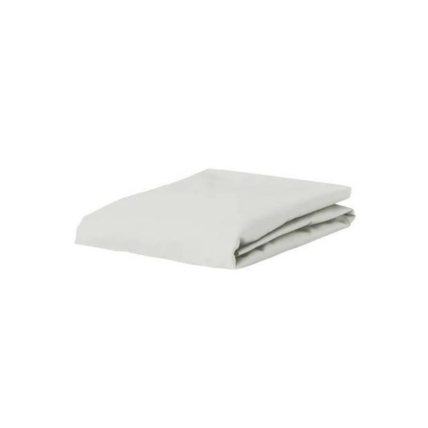 Essenza Satin hoeslaken - 100% katoen-satijn - 1-persoons (80x200 cm) - Silver