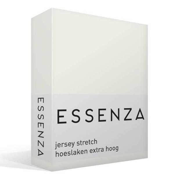 Essenza Premium jersey hoeslaken extra hoog - 97% gebreide katoen - 3% elastan - 1-persoons (90/100x200/220 cm) - Silver