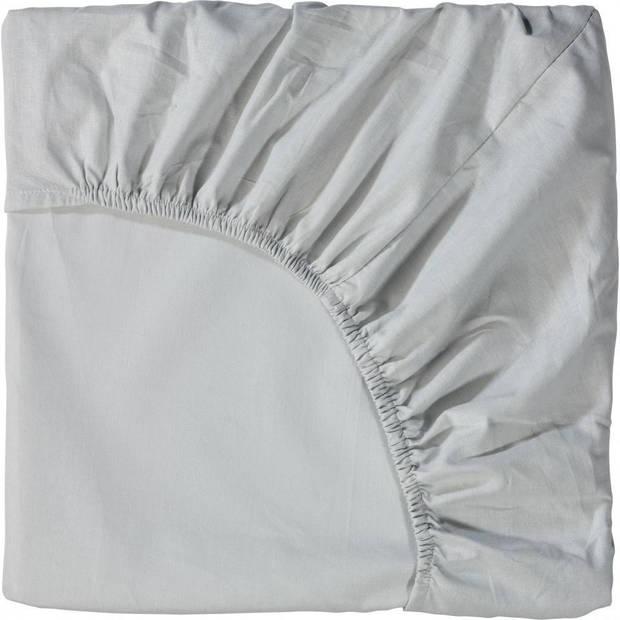 Blokker hoeslaken - geweven - licht grijs - katoen - 140 x 200 cm