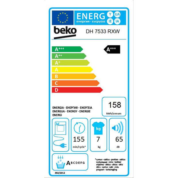 Beko DH7533RXW warmtepompdrogers - Wit