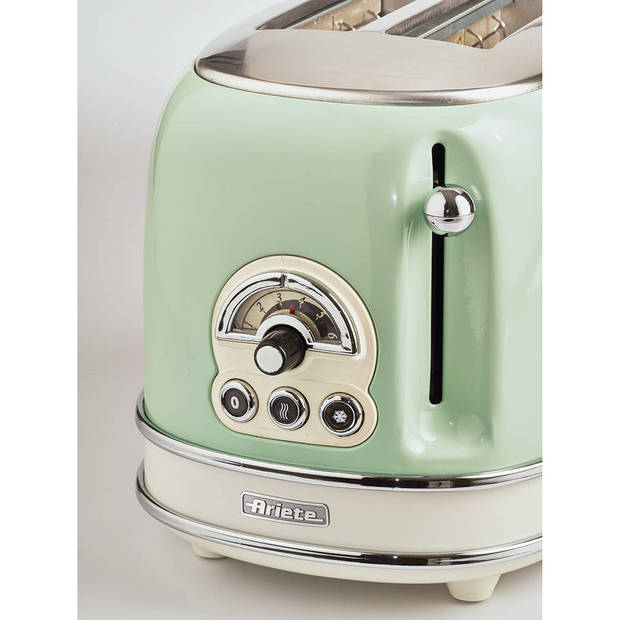 Ariete broodrooster met tostiklemmen Vintage Retro - groen