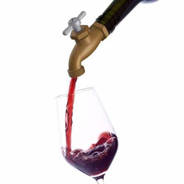 Tapped wijnbeluchter/wijnstop, kraan - Fred