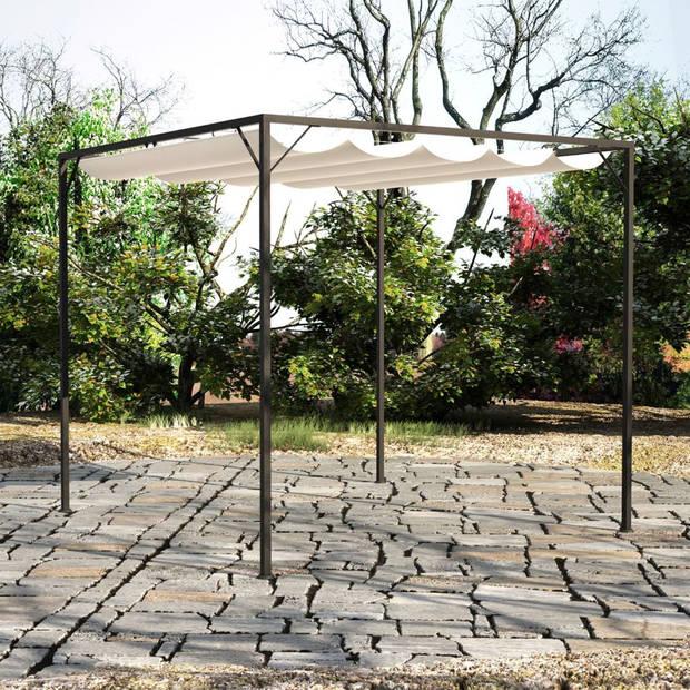 vidaXL Tuinpaviljoen met inschuifbaar dak