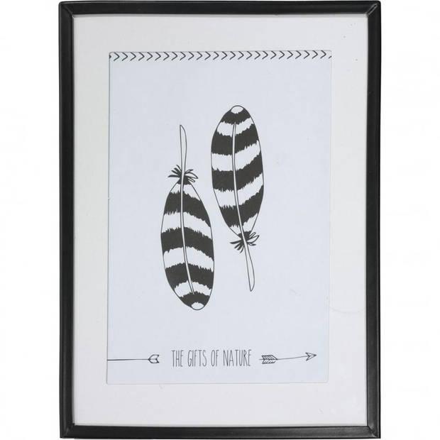 Fotolijst - 14 x 19 cm - metaal - zwart