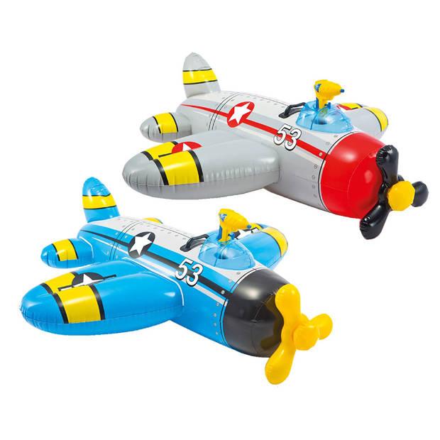 Intex Oplbaasbare Vliegtuig 2 Ass.