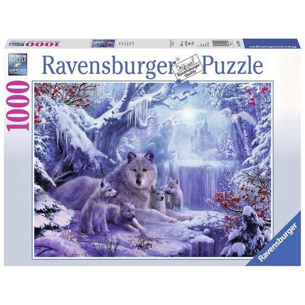 Ravensburger puzzel wolven in de winter - 1000 stukjes