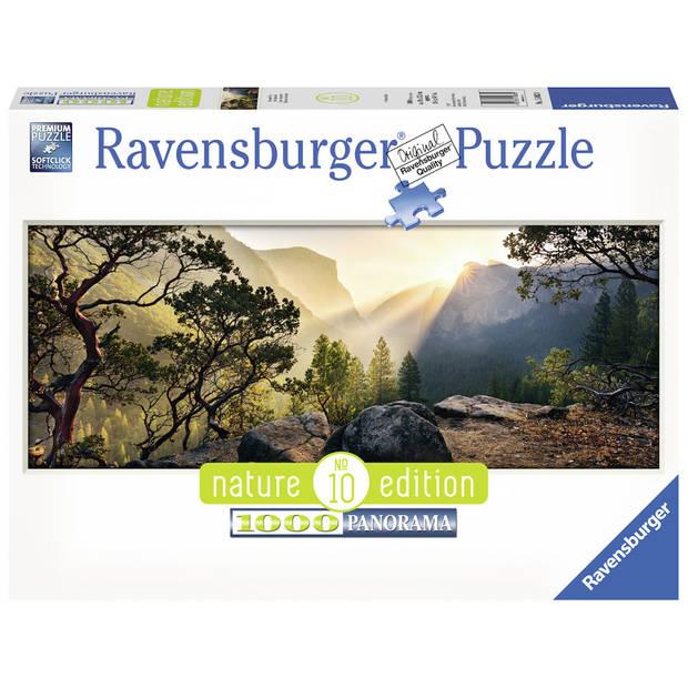 Ravensburger puzzel Panorama Yosemite Park - 1000 stukjes