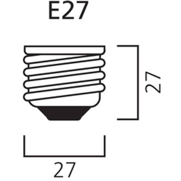 Calex LED volglas Flex Filament Globelamp 220-240V 4W 200lm E27 G125, Goud 2100K Dimbaar