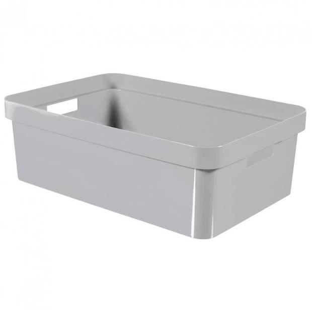 Curver Infinity box - 30 liter - lichtgrijs