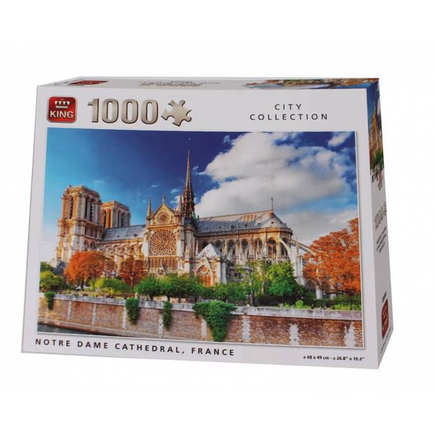 King legpuzzel Notre Dame De Paris Cathedral 1000 stukjes