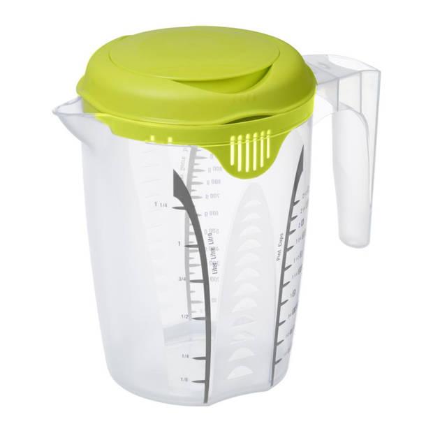 Rotho maat/mixbeker - met deksel - 1,25 liter