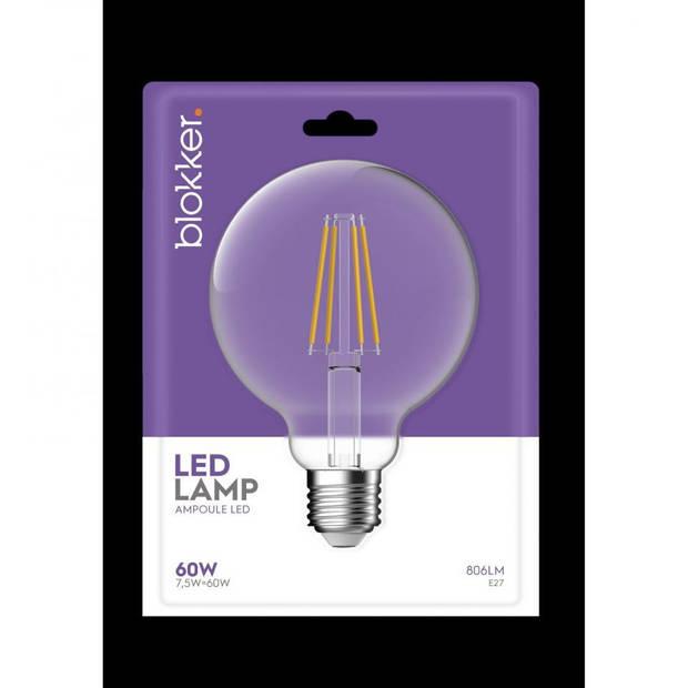 LED Globe 9,5cm 60WE27 Helder