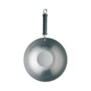Korting Kitchencraft Carbonstalen Wok, 30cm Kitchen Craft World Of Flavours