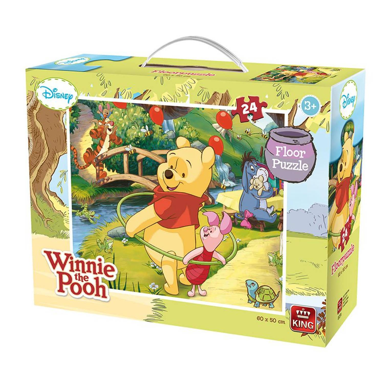 Campingbedje Winnie De Pooh.King Vloerpuzzel Winnie The Pooh 24 Stukjes Blokker