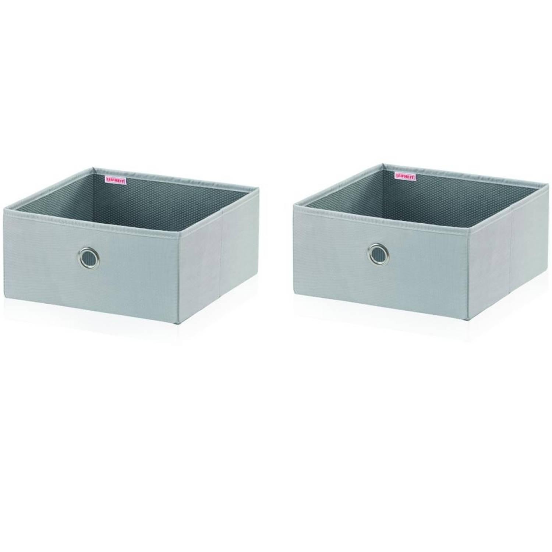 Leifheit Small Box - set van 2 - grijs