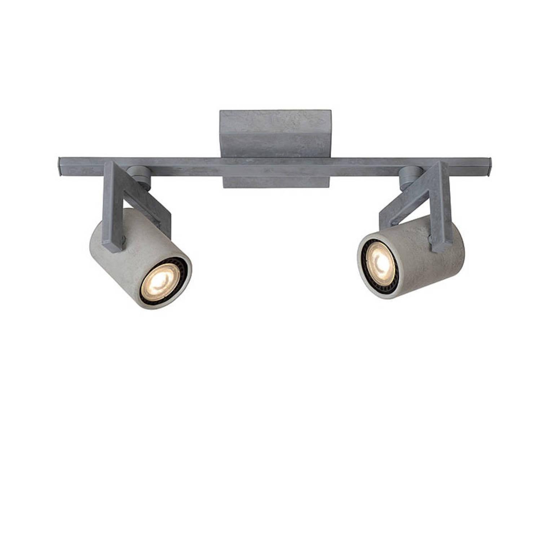 Lucide Conni Plafondlamp Led Grijs 2 Spots