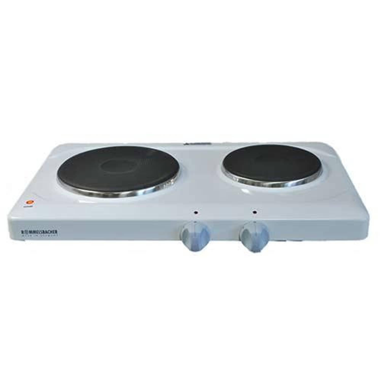 ROMB komfoor THS 2, wit emaille, (hxbxd) 7x50x29cm, 2 kookplaatsen