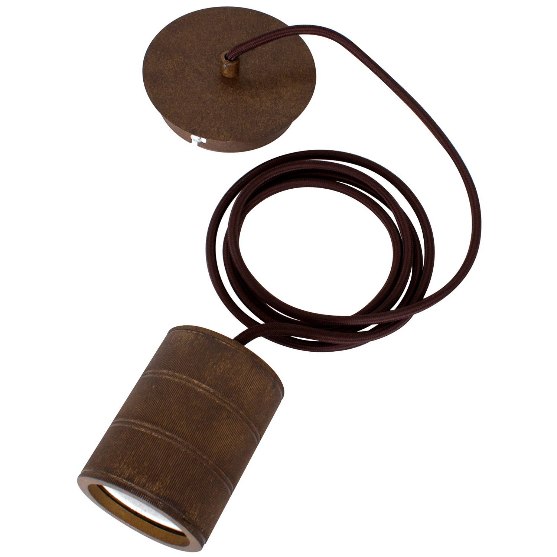 Calex retro pendel antique-brons fitting e40 (2 mtr. Snoer)