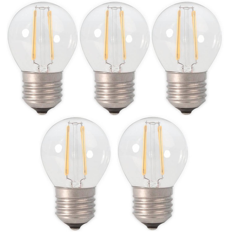 Calex led filament kogellamp 3.5-30w e27 p45 2700k dimbaar (5 stuks)