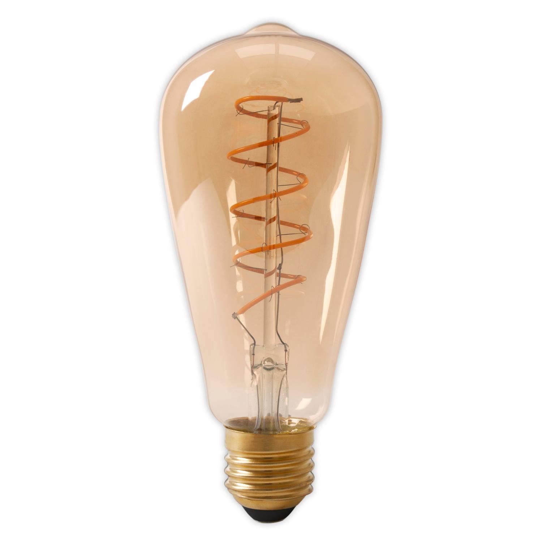 Calex led flexfilament rustieklamp 4-20w e27 st64 goud 2100k dimbaar