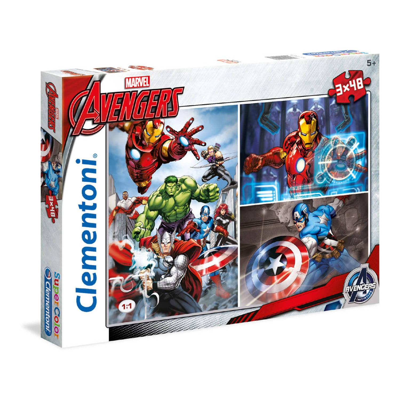 Puzzel 3x48 stukjes The Avengers