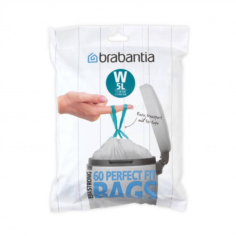 Brabantia Perfect Fit Afvalzakken 5 L - Code W - 60 Stuks