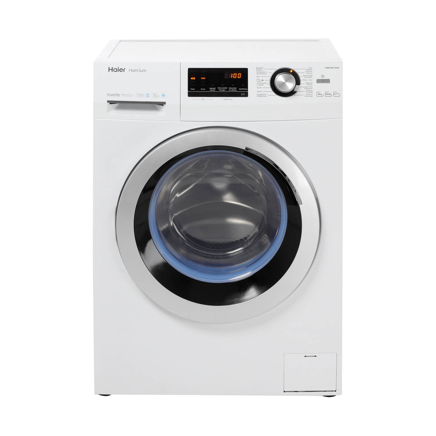 Haier HW80-BP14636 wasmachines - Wit