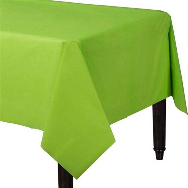 Lime groen tafelkleed plastic 274x137cm blokker for Tafel papier