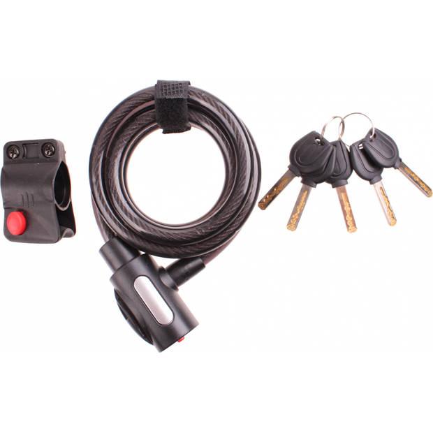 Cycle Tech spiraalslot 1500 x 12 mm zwart