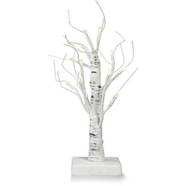 Berkboom met 12 lampjes - 30 cm