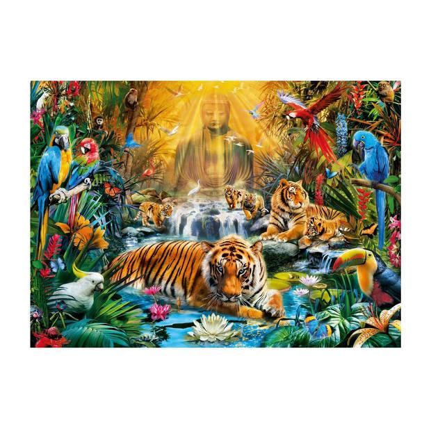 Clementoni puzzel Mystic Tigers 1000 stukjes