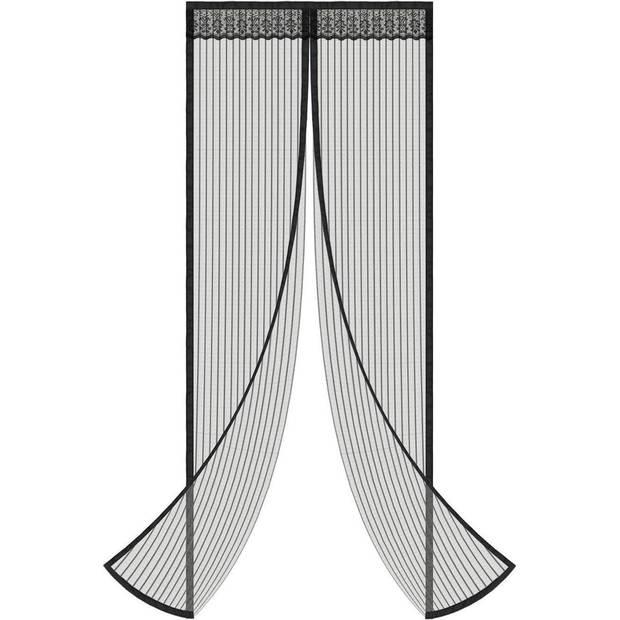 O'DADDY Vliegengordijn Deur Magnetisch - 92x230 cm - Zwart