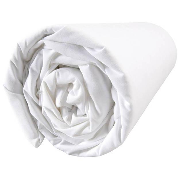Matt & Rose Douce Nuit - Hoeslaken - Eenpersoons - 90 x 200 cm - Wit