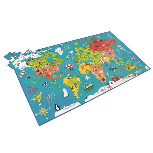 Scratch Puzzel wereldkaart 150 stukjes