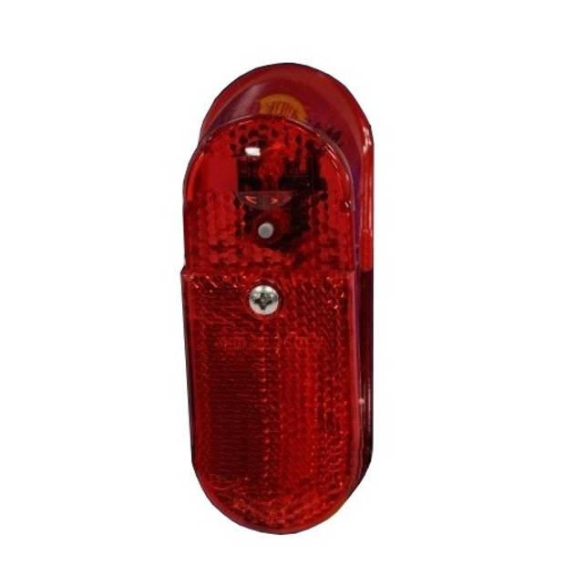 Gazelle achterlicht XBA batterij led zwart/rood