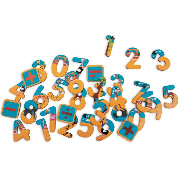 Scratch Magneten 123: safari 60 stuks