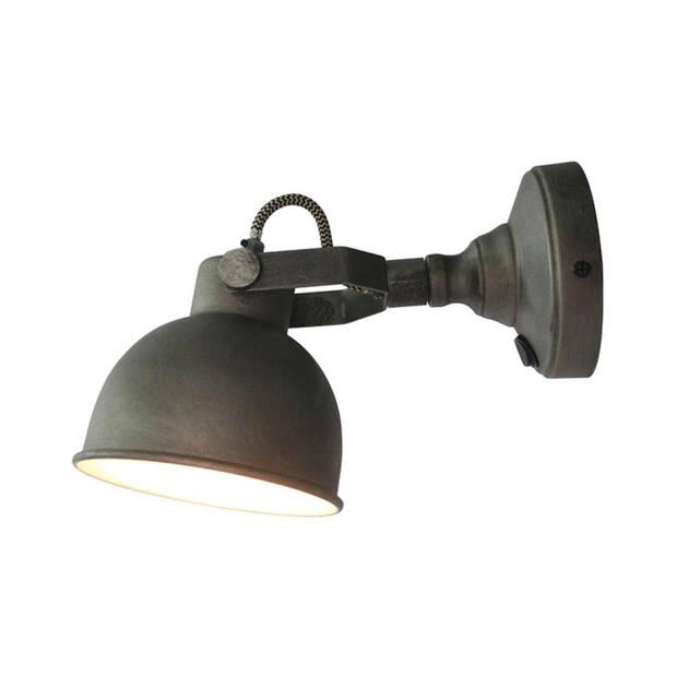 Label51 - led wandlamp bow l burned steel - grijs
