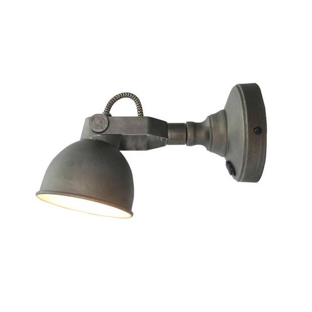 Label51 - led wandlamp bow m burned steel - grijs