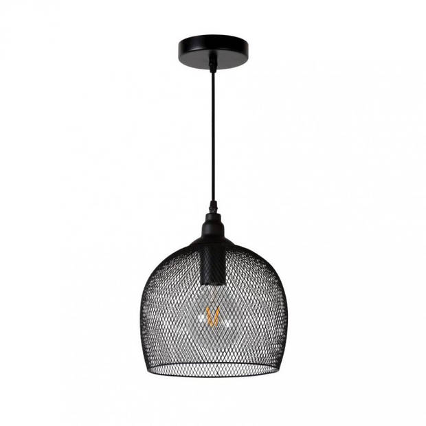 Lucide - mesh 22 cm hanglamp - zwart
