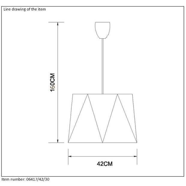Lucide - alegro hanglamp 42cm - zwart