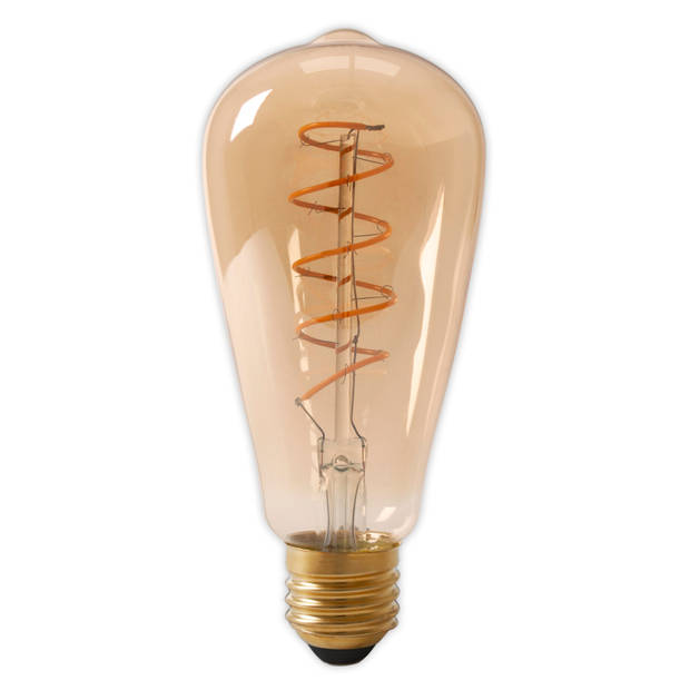 Calex led Flexfilament rustieklamp Dimbaar - 4-20w - E27 - Goud