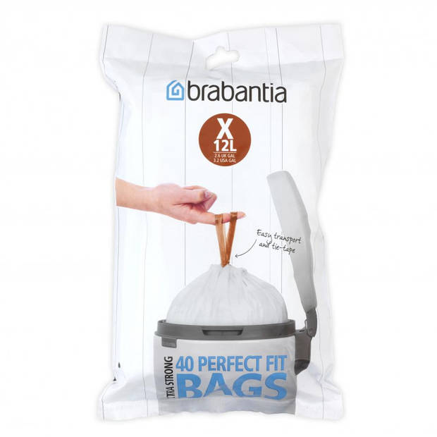 Brabantia Perfect Fit afvalzakken 12 l - Code X - 40 stuks