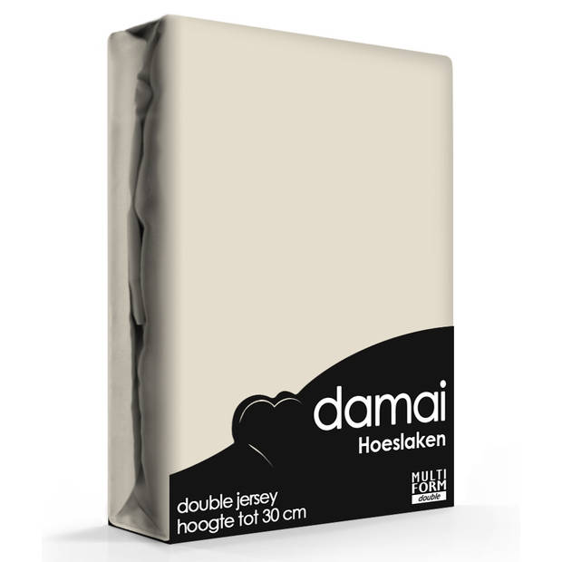 Damai Multiform Double Jersey Hoeslaken Mushroom-80/90 x 210/220 cm