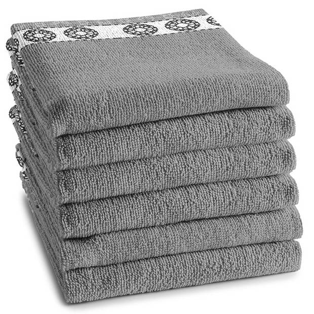 DDDDD Keukendoek Lace Grey (6 stuks)