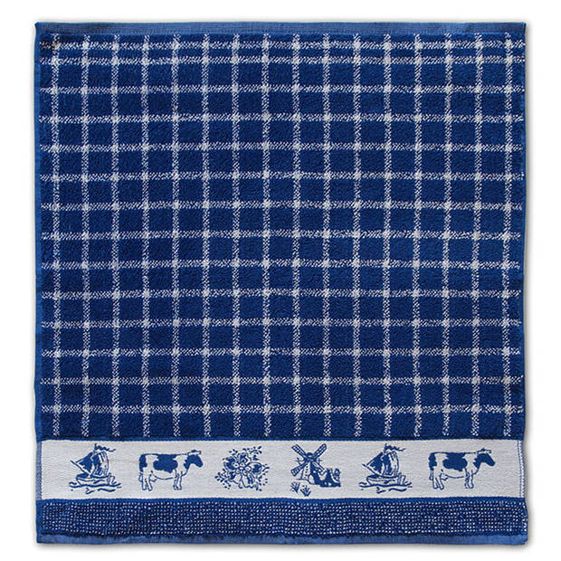 DDDDD Keukendoek Dutchie Blue (6 stuks)
