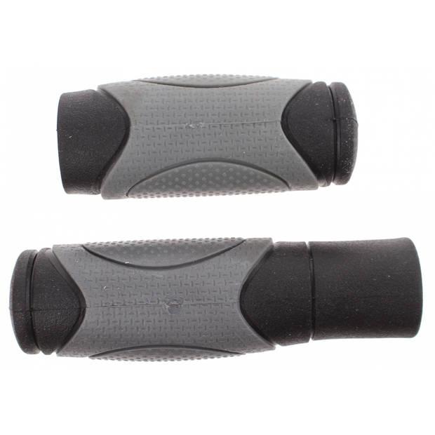 Cycle tech handvatten 12,5/9,2 cm grijs/zwart per paar