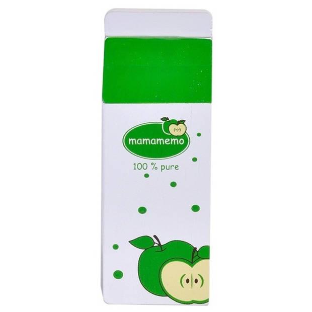 Mamamemo appelsap hout 12 cm groen/wit